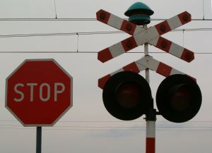 The technology enables trains to talk to road vehicles, and thereby avert potential collisions.