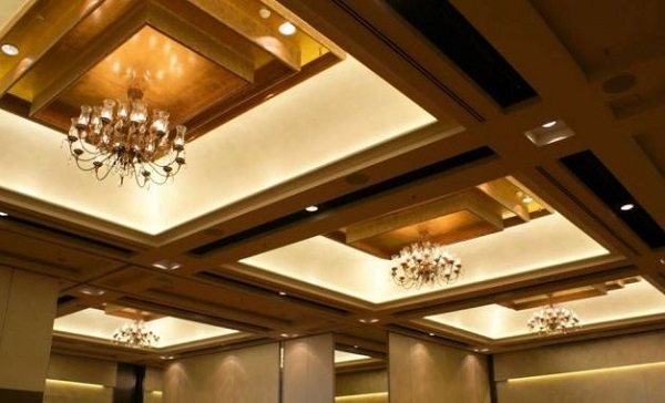 LED flat flex lighting was used to light the stunning ballroom at the Sheraton Mirage on the Gold Coast.