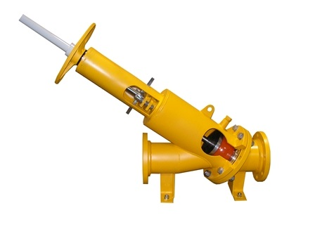 The Upwey MAXI-Check I valve combines the back-flow prevention function of a ball check valve with a hand-wheel operated or auto-actuated spindle and ball-retaining yoke mechanism.