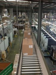 Overhead carton conveyors - cost effective and space saving