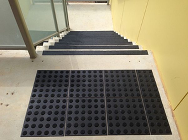 Stairs with Safe Grip Ultimate Anti Slip Nosing and tactiles