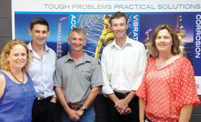The management team at SVT Engineering Consultants with eTrack's John Warner (2nd from left).