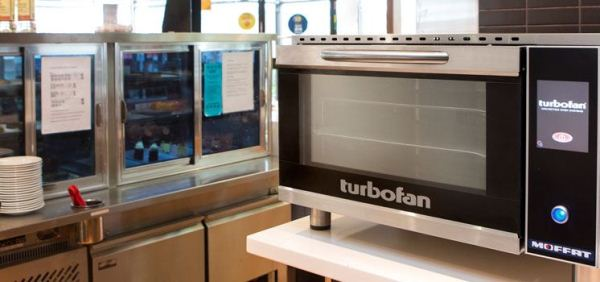As well as delivering a superior quality patisserie product the Turbofan oven boasts very low energy consumption.