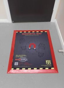 MAGNATTACK™ Transfer Control Mat in place of exit point ready for use.