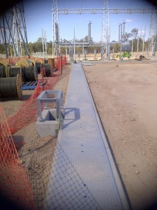 Pit lids (pit covers) at the Columboola Substation