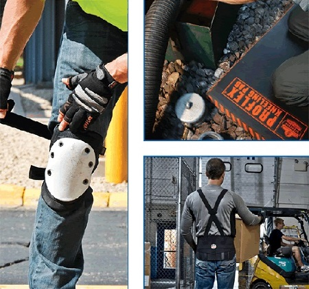 Using quality knee and back supports can prevent two of the most common types of work-related injuries from occurring.