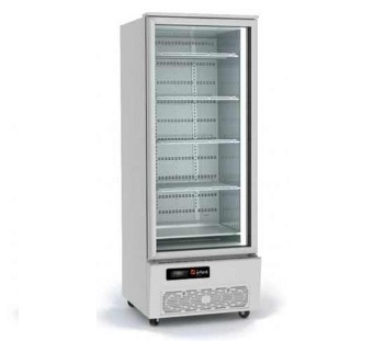 Commercial chillers should be positioned on a level surface so the doors can easily close.