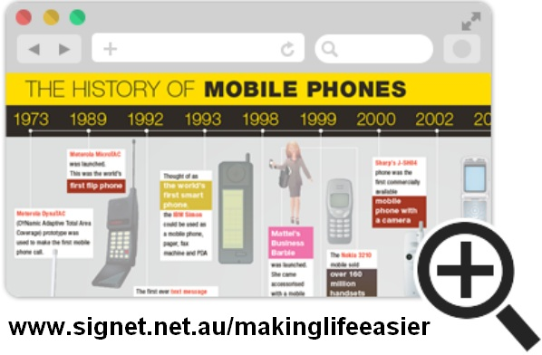 Check out the History of Mobile Phones infographic!