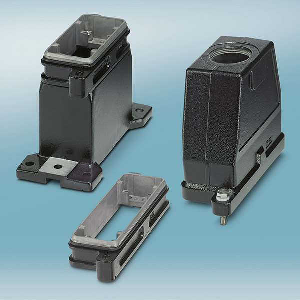 Phoenix Contact has developed the new Heavycon HPR connector range for use in transport and traffic technology.