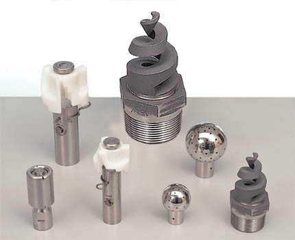 Spray nozzles used for CIP tank cleaning. (Supplier: Spray Nozzle Engineering)