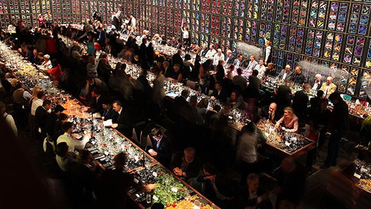 Food and wine VIPs take a seat at the 'Invite The World To Dinner' Gala event.