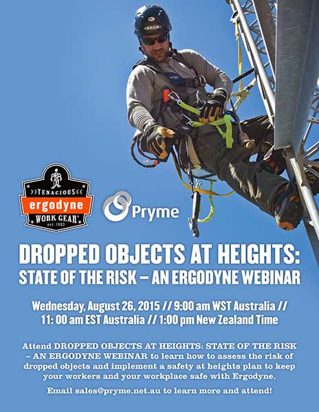 Register to Attend Ergodyne's Dropped Objects at Heights Webinar