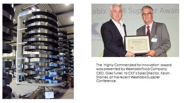 AMBAFLEX'S INTEGRATOR CKF WINS AWARD WITH SPIRAL BUFFERING SOLUTION