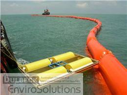 Bulbeck Envirosolutions' oil skimmer taking oil off water.