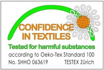 Oeko-Tex accredited