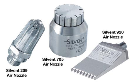 Most frequently used Silvent Air Nozzles at Norsk Blikkvalseverk.