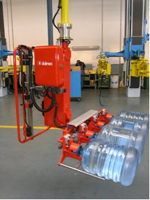 Bottles, casks & container lifting using manipulator lifting equipment.