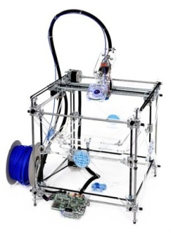 3D printing: A fast and cheap way to produce lots of different parts.