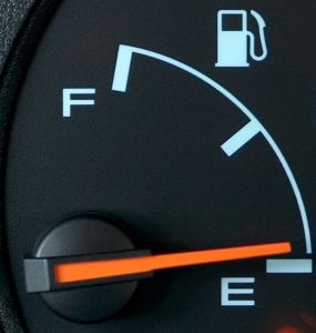 Running on empty: fuel savings in the manufacturing process have not translated to on-road savings.
