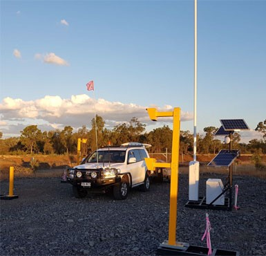Sector automatic boom gates, access control system combo operating on solar power in remote mine location