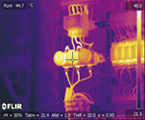 Thermal inspection of load problems in electrical cabinets of a public building