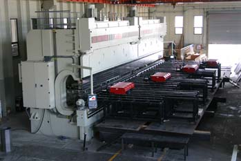 Press Brake set up for making Steel Light Poles