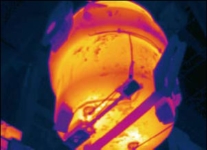 View of a torpedo ladle with a FLIR A320G infrared camera
