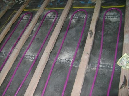 Hydronic Under Timber on Battens