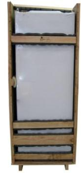 Shrink-Wrapped Cabinet inside Case