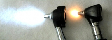 PRO LED Otoscope compared to Halogen