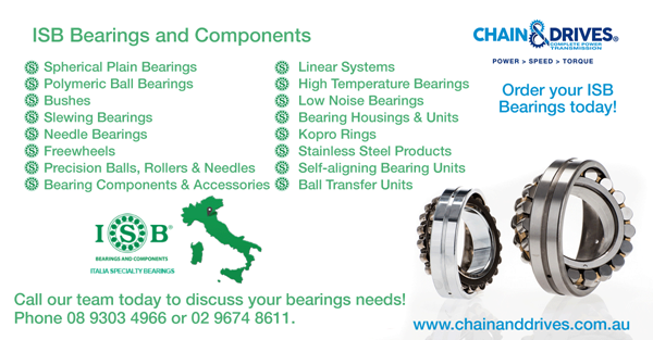 Exclusive Australian Distributor of ISB Bearings | Chain & Drives | Mechanical Equipment Group