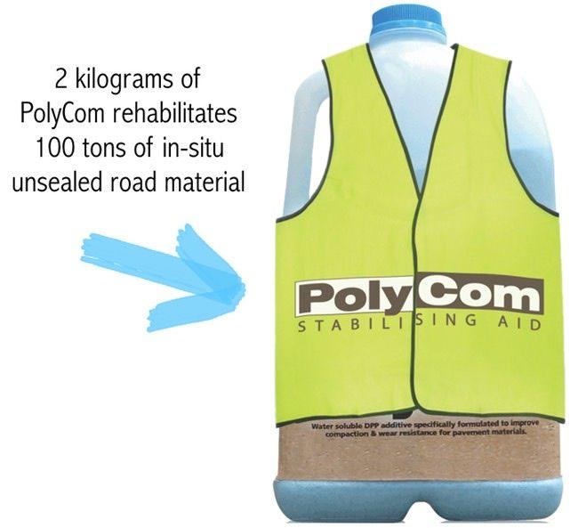 PolyCom Stabilising Aid for road Shoulders
