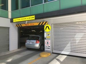 Efaflex doors for carpark entry