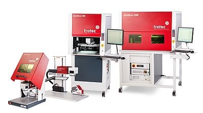The Trotec Fiber and Galvo Laser Range