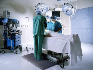 Non slip mat in operating theatre