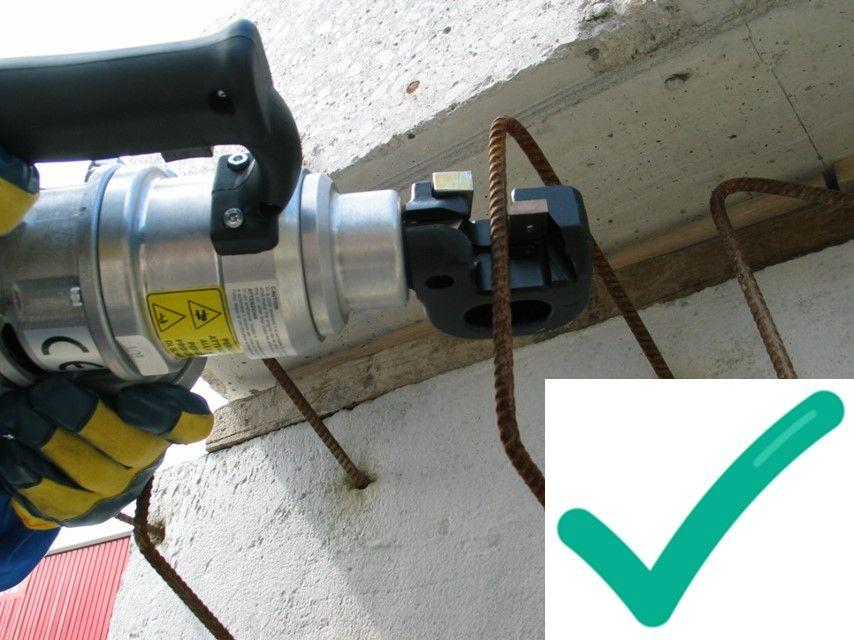 Safer Method of Cutting Steal Rebar - Silvercut 16 Pictured