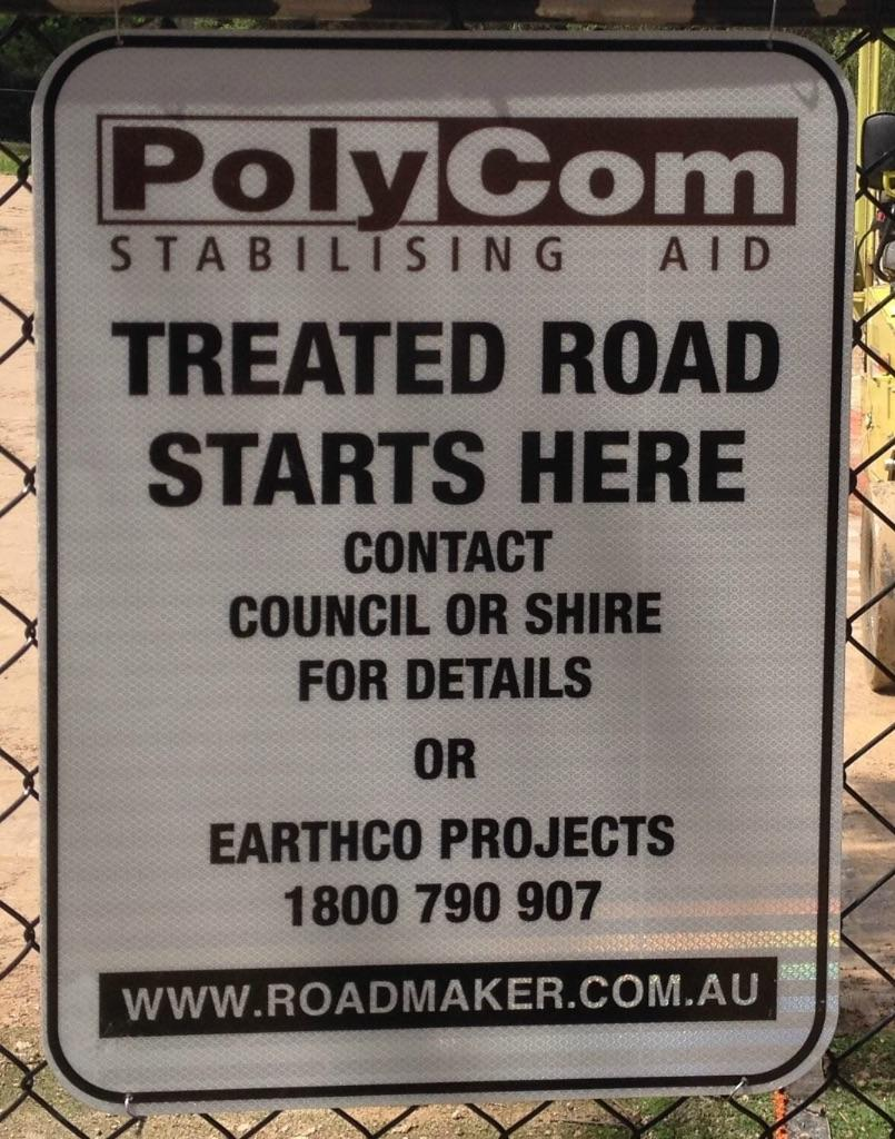 PolyCom treated roads - shires and councils in VIC and NSW create sustainability