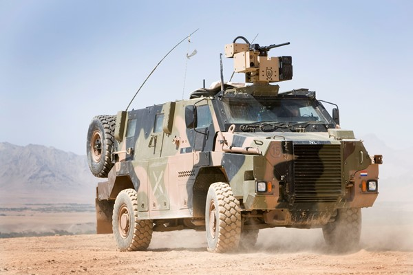 An Australian Made Bushmaster, deployed in Afghanistan by the Royal Netherlands Army