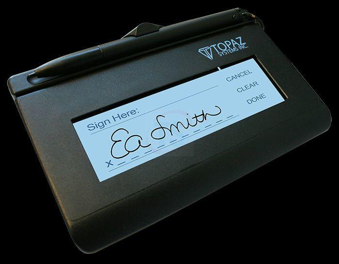 Topaz Siglite Signature Pad LCD 1x5 HID-USB Backlit - T-LBK460-HSB-R