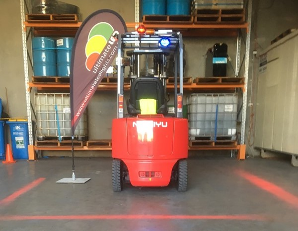 Safety Light Beam For Forklifts Amp Nightwork Redzone Safety
