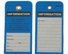 Information Tags Pack Of 5 Industrysearch Australia