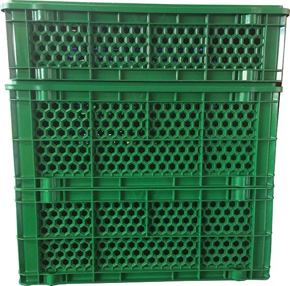 Stackable Plastic Crates Vented Ib Honeycomb