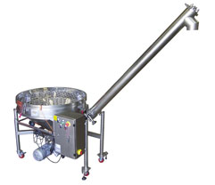 Inclined Auger Screw Conveyor with Round Hopper