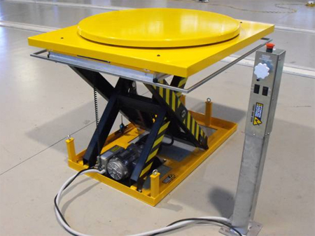 Electric Scissor Lift Tables With Turntables Ohs