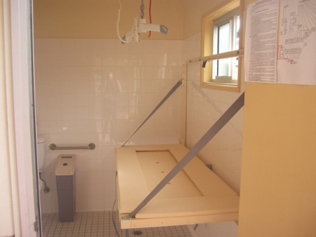 Wall Mounted Height Adjustable Change Table - Adjustable changing table