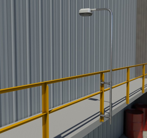 Light Mounting Lighting Poles Angle Iron Stanchion