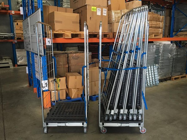 Folding Roll Cage Trolley - IndustrySearch Australia