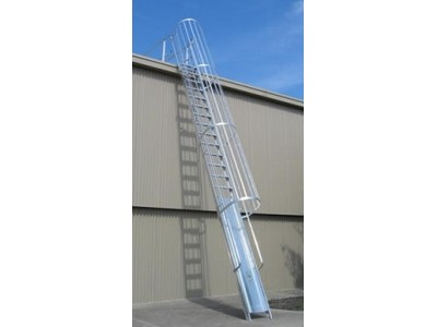 Safety Ladders Caged Access Ladder Industrysearch