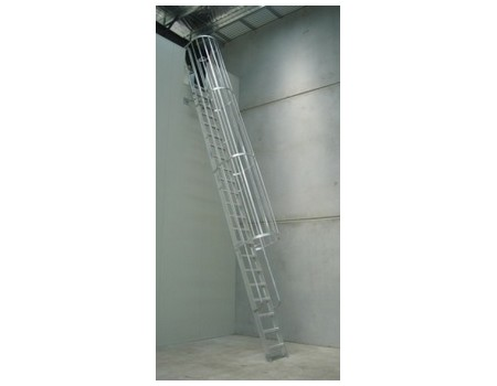 Am Boss Cage Access Ladder With Flat Treads Full Length
