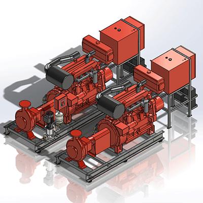 Aline   Fire Fighting Pumps   Dual Electric & Diesel